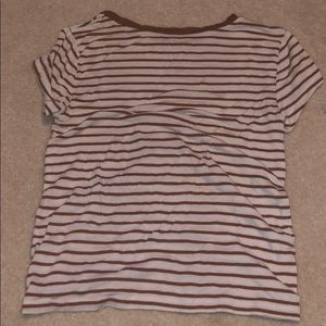 American Eagle Outfitters Tops - Striped white&brown shirt